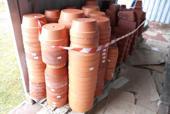 Lotto 4C) Circa 500 vasi in terracotta