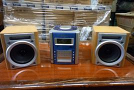 Mini stereo con 2 casse Firstline