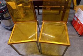 N° 2 sedie in plastica gialla