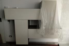 Rif. n. 31 - Parete soggiorno laccato bianco lucido a 4 ante