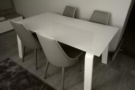 Rif. n. 32 - Tavolo in metallo con piano in vetro allungabile