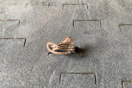 Anello in oro bianco con brillanti peso 5.73 gr