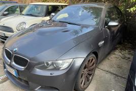 Autovettura BMW M3 4.0 benzina targata DR 024 TS, immatricolata il 29/09/2008. Provvista del libretto di circolazione e di una sola chiave. Chilometraggio rilevato al momento del ritiro 33.298