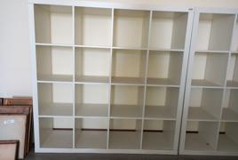 Lotto di Librerie in legno bianco