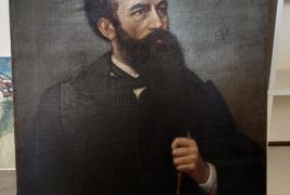 """dipinto tratto ad olio su tela raffigurante """"ritratto di nobiluomo"""" firmato G. Barbetti"""