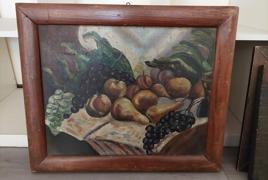 """dipinto olio su tavola raffigurante """"natura morta di frutta"""""""